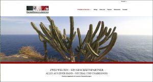 Webseite Swissmexco Logistics GmbH von Webelyne Webdesign und Web Management