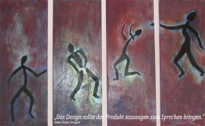Facebook Kampagne Tanzende Figuren, abstrakte Malerei