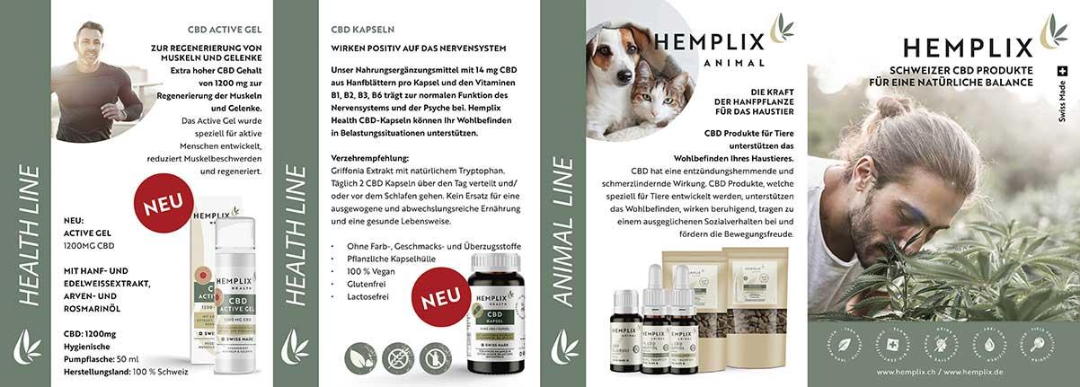 Hemplix Kundenfalzflyer Seite 1